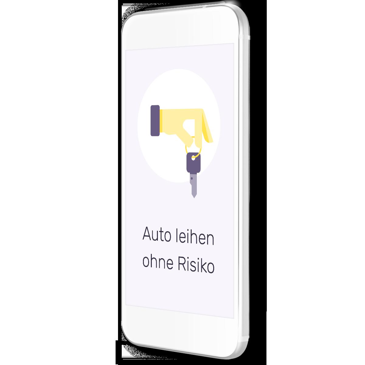 Smartphone mit Text Auto leihen ohne Risiko